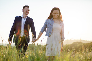 A Sunset Engagement Shoot