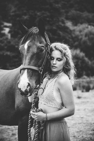 Boho Beauty and a Horse