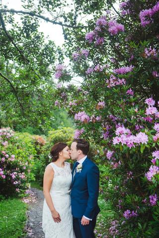 A Canonteign Falls Wedding In The Rain