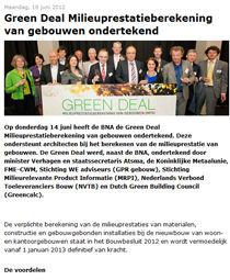 Nieuws | 18 juli 2012 | Green Deal