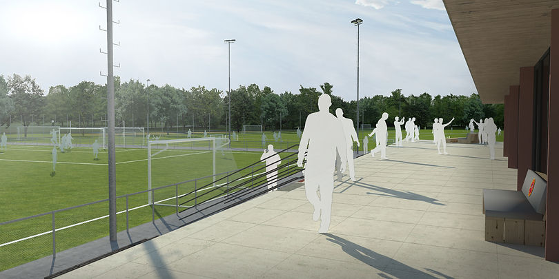 Blackbox architecten Architect Amstelveen Amsterdam Nieuwbouw clubhuis voetbalclub Sporting Martinus Amstelveen