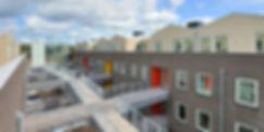 Starterswoningen Alkmaar | Unieke penthouse starterswoningen. Op de begane grond zijn de woningen 15 meter breed. Parkeerplaatsen en bergingen zijn inpandig.