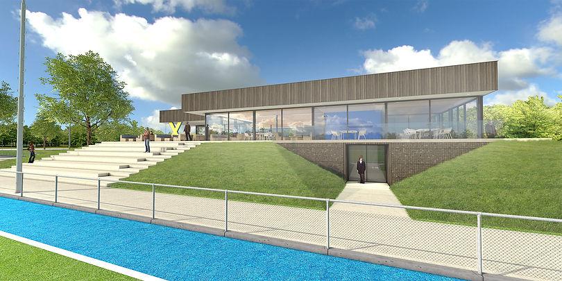 Blackbox architecten Architect Amstelveen Amsterdam Nieuwbouw clubhuis hockeyclub Xenios Amsterdam