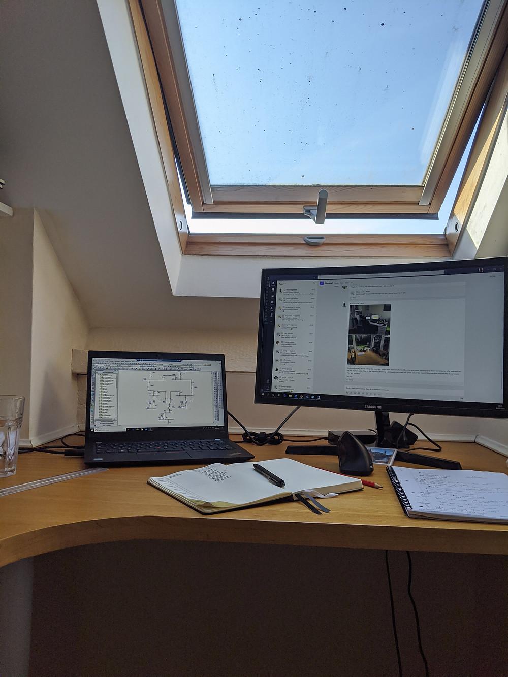 WFH Desk set up