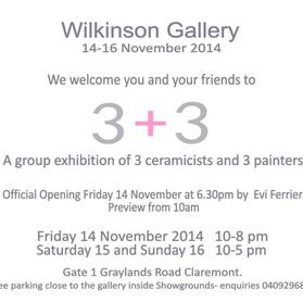 Wilkinson Gallery 14-16th Nov