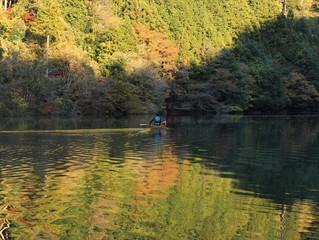 秋の白丸湖 : 『光を連れて』