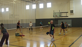 Indoor Pickleball at Timberhill Athletic Club