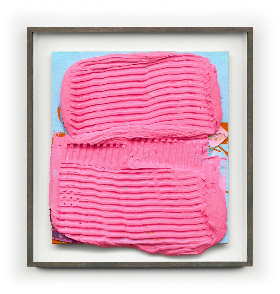 Untitled #Pink (Framed) 65cm x70cm (Artwork) Mixed Media on Panel $4,000 AUS SOLD