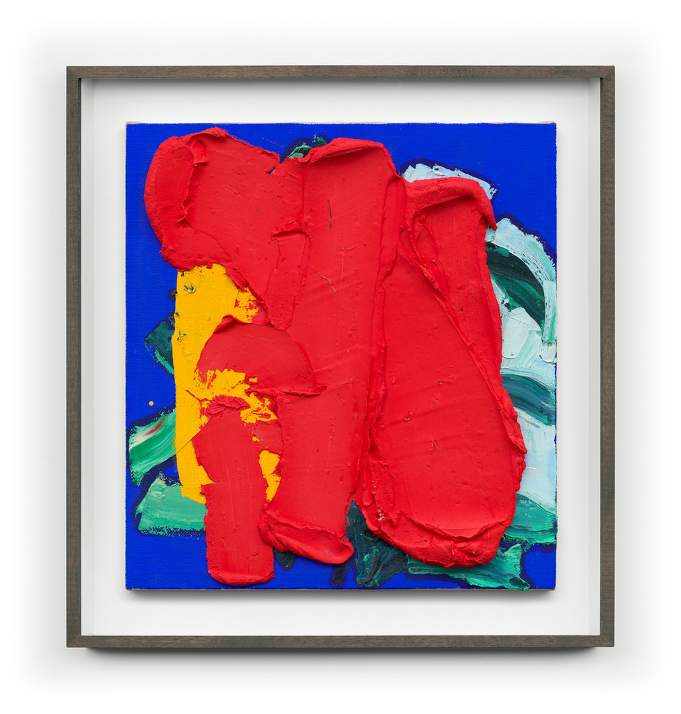 Untitled #Red (Framed) 65cm x 70cm (Artwork) Mixed Media on Panel $4,000 AUS SOLD