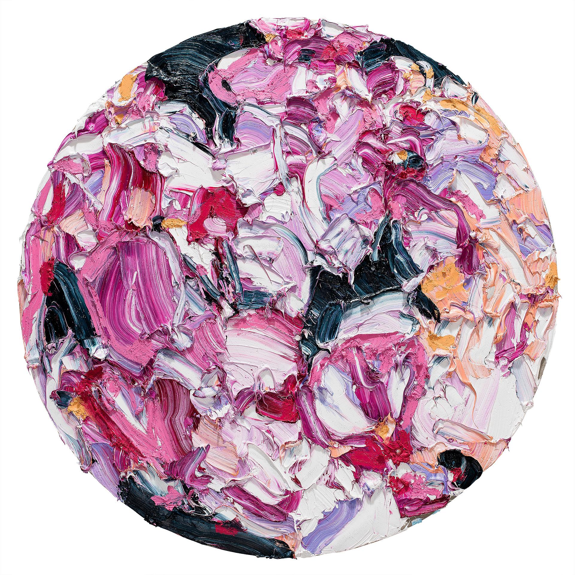 Alesandro Ljubicic Madder Fusia Bloom, 2017 Oil on linen on birch 120 cm diameter