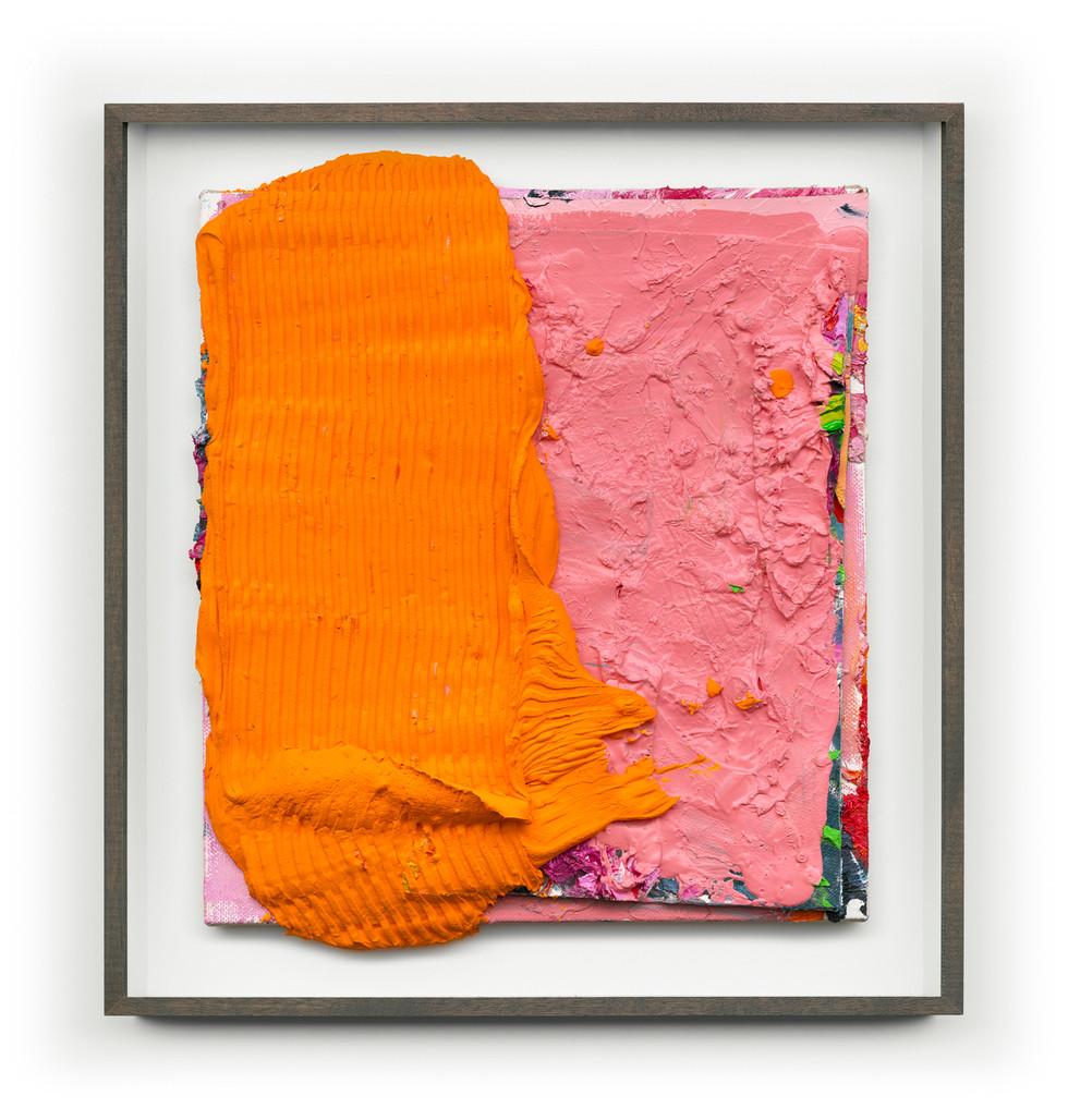 Untitled #Orange(Framed) 65cm x70cm (Artwork) Mixed Media on Panel $4,000 AUS SOLD
