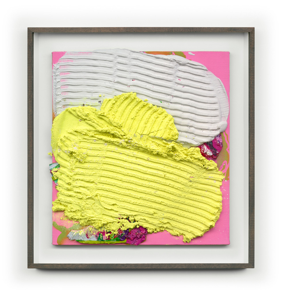 Untitled #Yellow(Framed) 65cm x70cm (Artwork) Mixed Media on Panel $4,000 AUS SOLD