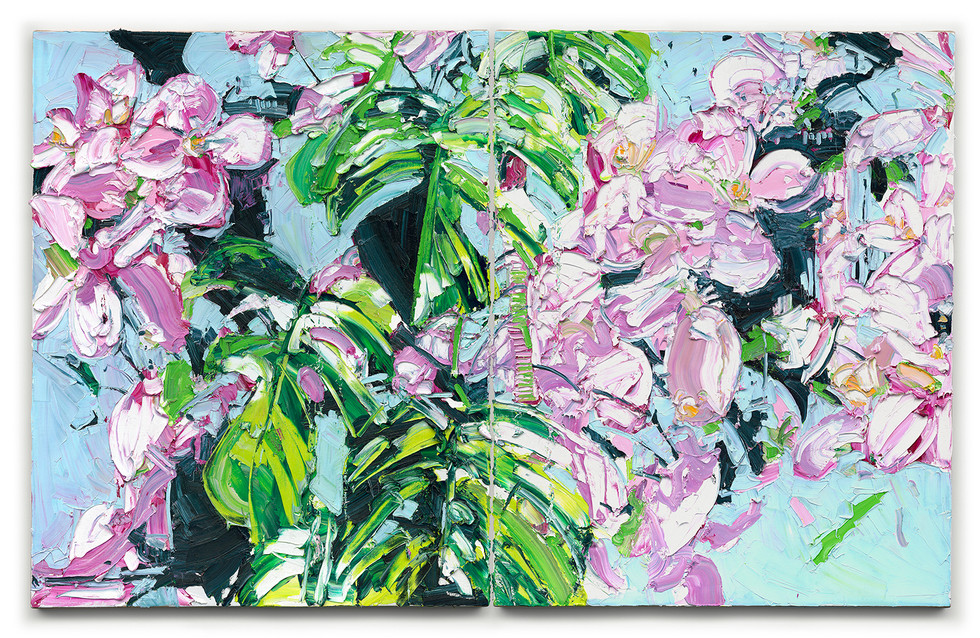 Whenever Life Plants, Bloom With Grace ( Diptych )
