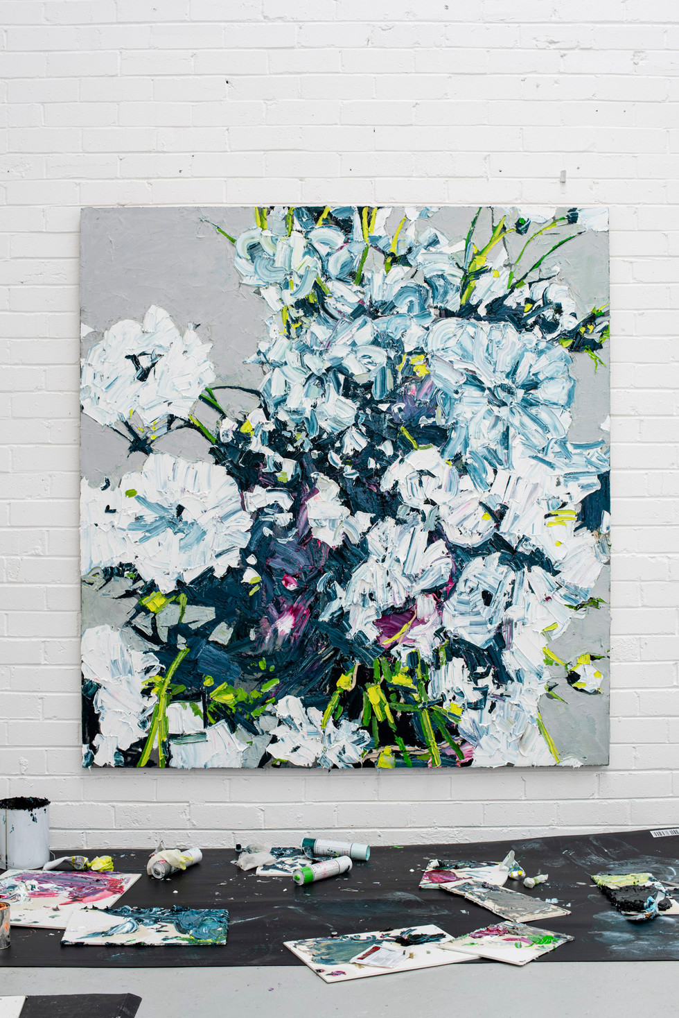 Beauty ain't always a little cute coloured flower. Beauty is anything where people be like, 'Damn' 180x170cm Oil on linen over Dibond
