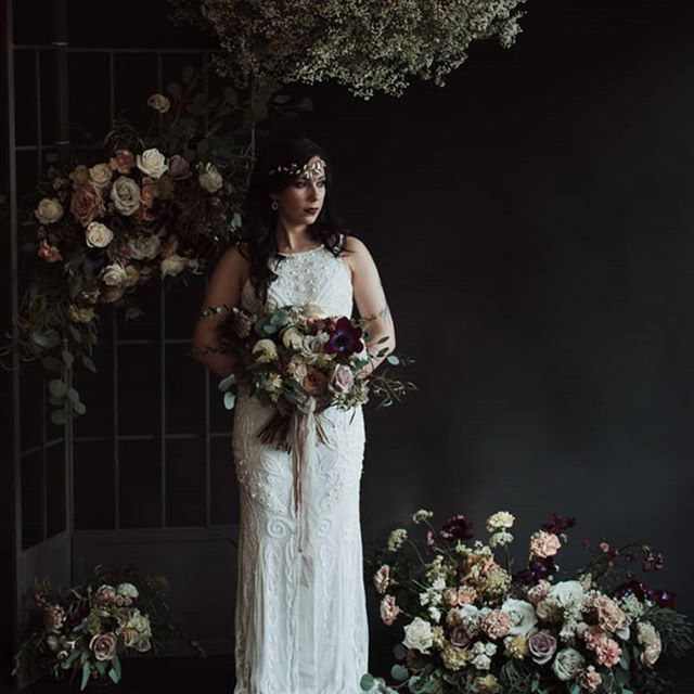 Dark and moody styled shoot