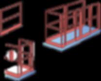 Barierki ochronne platformy podnośnej HYMO