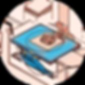 Platforma nożycowa obrotowa HYMO