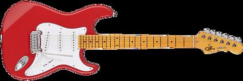 G&L Tribute Legacy Electric Guitar: Fullerton Red/TGN/Tortoise