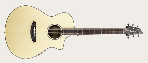 Breedlove Pursuit Exotic Concert Engelmann Spruce - Striped Ebony A/E Guitar