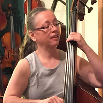 Paula Taylor teaches double bass (plucked) and beginning violin/fiddle