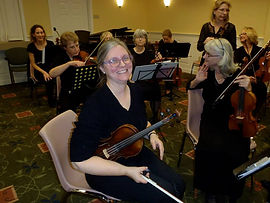 Judy Terwilliger with the Sunday Sinfonia