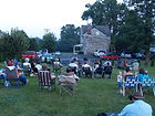 One of the first summer open mics in the back yard at Meadowood