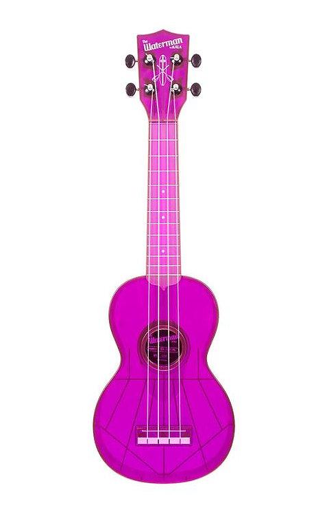 Kala Waterman Soprano Ukulele - TRANSPARENT Purple