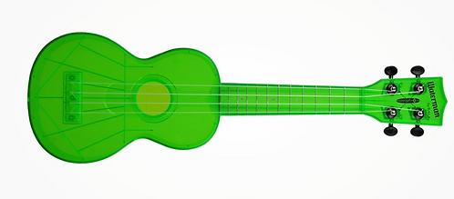 Kala Waterman Soprano Ukulele - TRANSPARENT Green