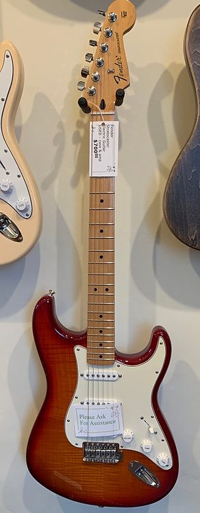 Mexican Fender Strat Electric Guitar with amp
