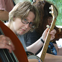 Stacy Bechtel teaches clarinet, bass, banjo, flute, guitar, piano, sax, trumpet and ukulele