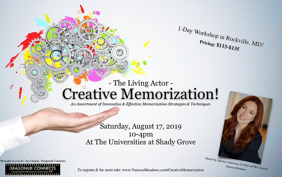 The Living Actor- Creative Memorization