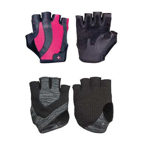 Harbinger l Women's Pro Glove® - Black/Pink + Harbinger | Women's Palm Guards