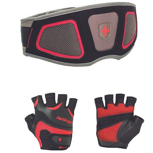 Set1 Harbinger   FlexFit Gloves+Men's Contour Flexit Belt