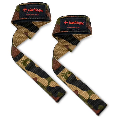 Harbinger l Padded Cotton Lifting Straps - Camo
