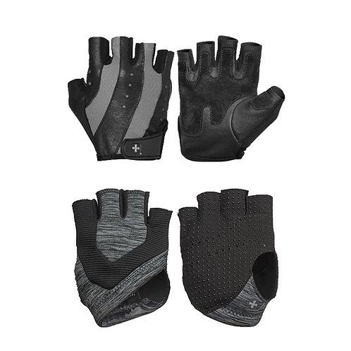 Harbinger l Women's Pro Glove® - Black/Gray + Harbinger | Women's Palm Guards