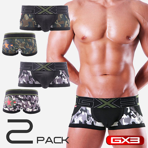 GX3 | 2 PACK ARMY BOXER