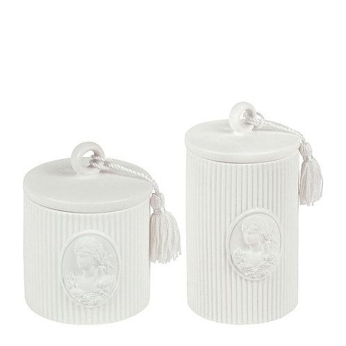 Set de 2 pots à coton Marquise