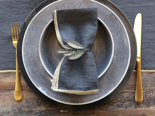 Rond de serviette métal vieilli