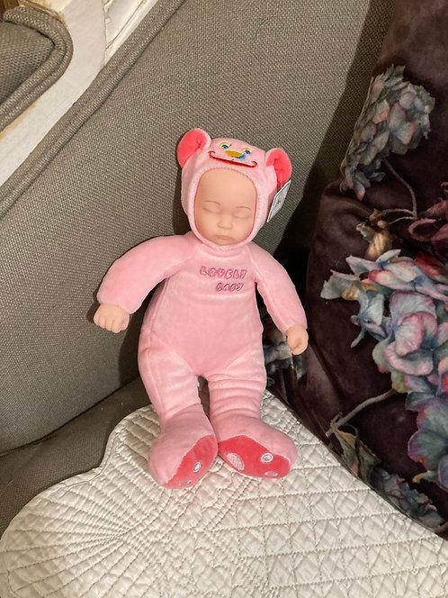 Bébé ours rose tout doux
