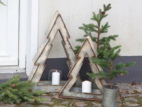 Sapin de Noël en fer avec bougeoir