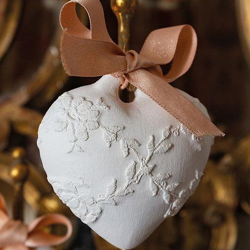 Décor parfumé Cœur brodé - Rose Élixir