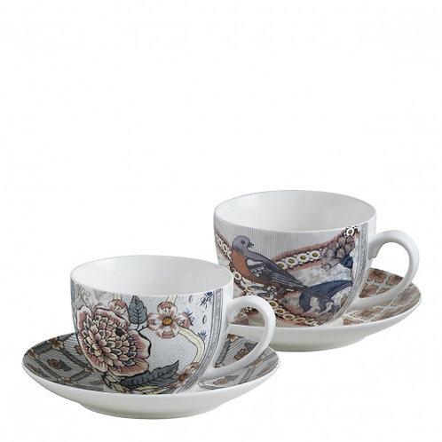 Coffret de 2 tasses à thé Madame de Pompadour