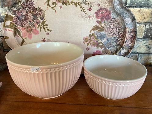 Set de deux saladier rose pale