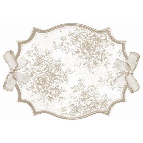 Set de table fleurs lin