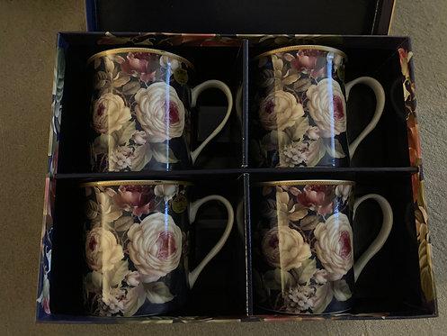 Coffret de 4 mugs Roses