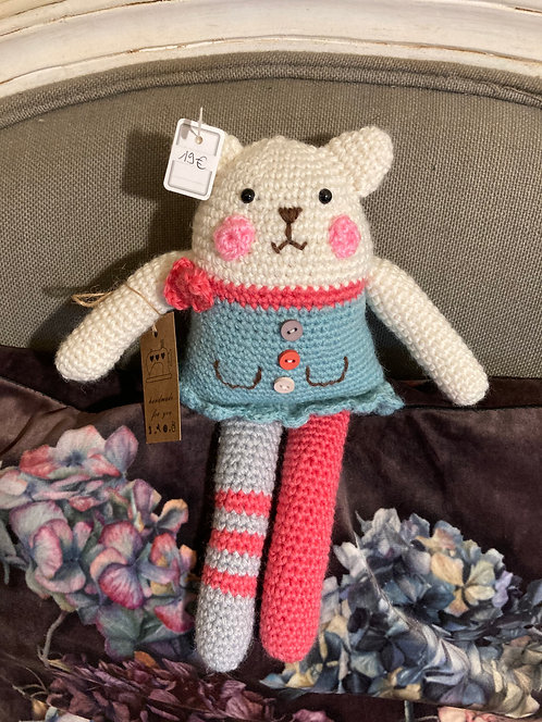 Chat triangle rigolo au crochet