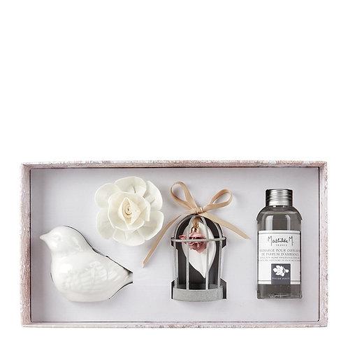 Coffret diffuseur de parfum d'ambiance Palazzo Bello - Fleur de coton