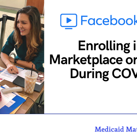 Enrolling in the Marketplace or Medicaid During COVID-19