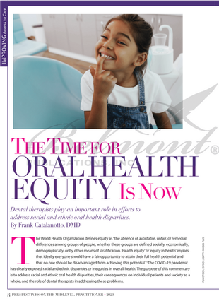 The Time For Oral Health Equity Is Now