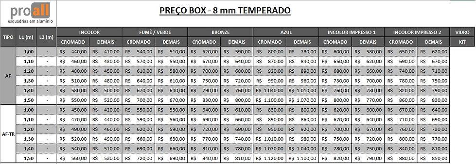 PREÇO-BOX-PADRÃO-TIPO AF e AFTR-PROALL-J